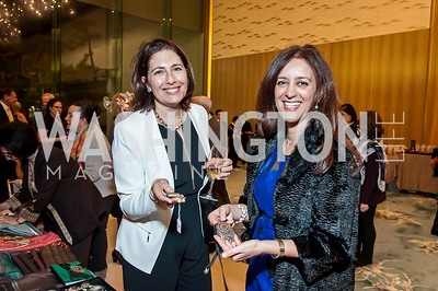 Demet DeAvila, Beatriz Tuncer. Photo by Tony Powell. 2017 Aschiana Foundation Gala. Residence of Japan. February 8, 2017