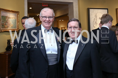 Adm. Jim Loy, Lord Robertson. Photo by Tony Powell. 2017 Atlantic Council Distinguished Leadership Awards. Ritz Carlton. June 5, 2017