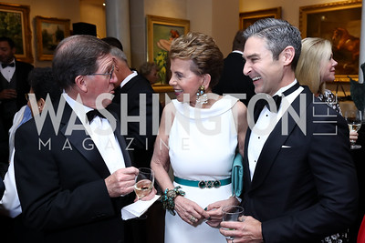 Lord Robertson, Adrienne Arsht, Damon Wilson. Photo by Tony Powell. 2017 Atlantic Council Distinguished Leadership Awards. Ritz Carlton. June 5, 2017