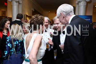 Adrienne Arsht, VADM Mary Jackson, Sweden Amb. Bjorn Lyrvall, C. Boyden Gray. Photo by Tony Powell. 2017 Atlantic Council Distinguished Leadership Awards. Ritz Carlton. June 5, 2017