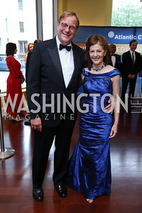 Fred Kempe and Pamela Meyer. Photo by Tony Powell. 2017 Atlantic Council Distinguished Leadership Awards. Ritz Carlton. June 5, 2017