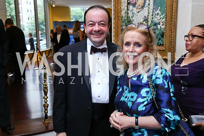 Ziad Ojakli, Rep. Debbie Dingell. Photo by Tony Powell. 2017 Atlantic Council Distinguished Leadership Awards. Ritz Carlton. June 5, 2017