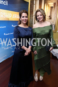 HRH Princess Haya bint al Hussein, Renée Fleming. Photo by Tony Powell. 2017 Atlantic Council Distinguished Leadership Awards. Ritz Carlton. June 5, 2017