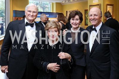 DeVier Pierson and Shirley Pierson, Sally and Buck Chapoton. Photo by Tony Powell. 2017 Atlantic Council Distinguished Leadership Awards. Ritz Carlton. June 5, 2017