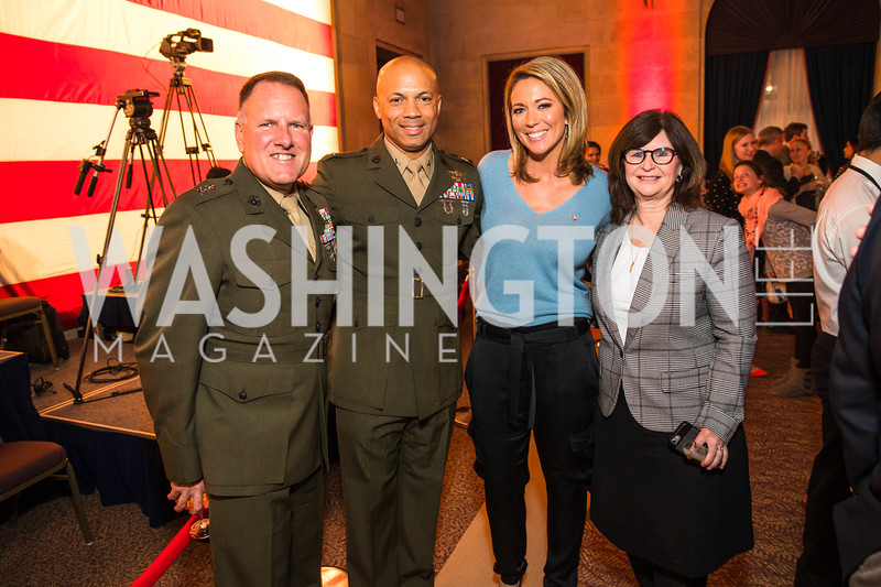 John Broadmeadow, Che Bolden, Brooke Baldwin, Karen Broadmeadow. Photo by Alfredo Flores. 2017 Blue Star Neighbors Celebration. U.S. Chambers of Commerce. March 22, 2017
