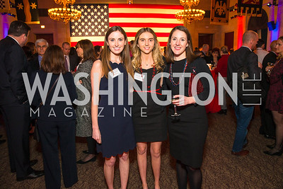 Meg Molloy, Misi Cooney, Lolly Rivas. Photo by Alfredo Flores. 2017 Blue Star Neighbors Celebration. U.S. Chambers of Commerce. March 22, 2017