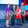 Ellyn Dunford, Rosalynn Carter, Kathy Roth-Douquet, Brooke Baldwin. Photo by Alfredo Flores. 2017 Blue Star Neighbors Celebration. U.S. Chambers of Commerce. March 22, 2017