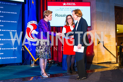 Ellyn Dunford, Kathy Roth-Douquet, Rosalynn Carter. Photo by Alfredo Flores. 2017 Blue Star Neighbors Celebration. U.S. Chambers of Commerce. March 22, 2017