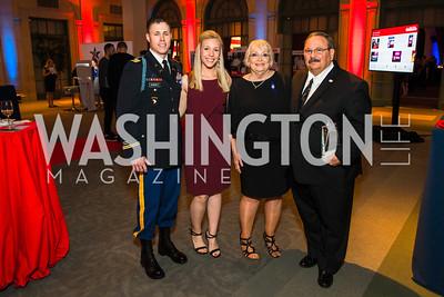 Chase Burnett, Ashley Burnett,  Judy Osborne, Kent Osborne.. Photo by Alfredo Flores. 2017 Blue Star Neighbors Celebration. U.S. Chambers of Commerce. March 22, 2017