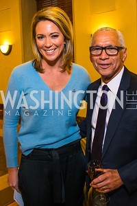 Brooke Baldwin, Charlie Bolden.  Photo by Alfredo Flores. 2017 Blue Star Neighbors Celebration. U.S. Chambers of Commerce. March 22, 2017