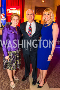 Ellyn Dunford, Pete Ahern, Michelle Ahern. Photo by Alfredo Flores. 2017 Blue Star Neighbors Celebration. U.S. Chambers of Commerce. March 22, 2017