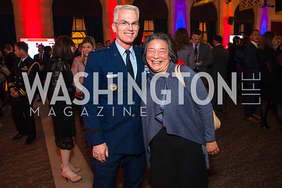 Paul Selva, Tina Tchen. Photo by Alfredo Flores. 2017 Blue Star Neighbors Celebration. U.S. Chambers of Commerce. March 22, 2017
