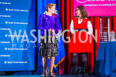 Ellyn Dunford, Kathy Roth-Douquet. Photo by Alfredo Flores. 2017 Blue Star Neighbors Celebration. U.S. Chambers of Commerce. March 22, 2017