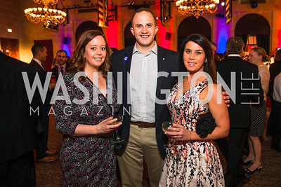 Elizabeth Pletcher, Norm Bonnyman, Kallie Hanisch. Photo by Alfredo Flores. 2017 Blue Star Neighbors Celebration. U.S. Chambers of Commerce. March 22, 2017