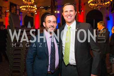 Kevin Schmiegel, Eric Eversole. Photo by Alfredo Flores. 2017 Blue Star Neighbors Celebration. U.S. Chambers of Commerce. March 22, 2017