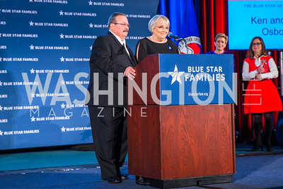 Kent Osborne, Judy Osborne, . Photo by Alfredo Flores. 2017 Blue Star Neighbors Celebration. U.S. Chambers of Commerce. March 22, 2017