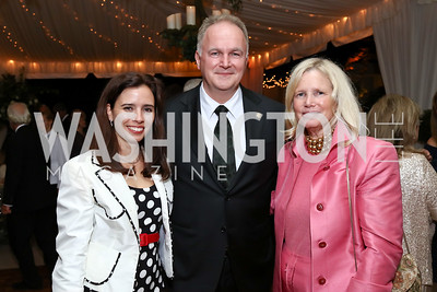 Yvonne Szabo, Hungary Amb. Laszlo Szabo, Dr. Susan Blumenthal. Photo by Tony Powell. 2017 Cafritz Welcome Back from Summer. September 8, 2017
