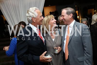 John Jeppson, Wendy Benchley, Sen. Tom Udall. Photo by Tony Powell. 2017 Cafritz Welcome Back from Summer. September 8, 2017