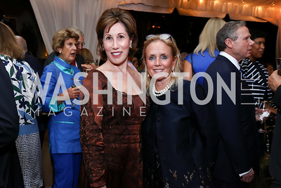Catherine Reynolds, Rep. Debbie Dingell. Photo by Tony Powell. 2017 Cafritz Welcome Back from Summer. September 8, 2017