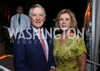 Peru Amb. Carlos and Consuelo Pareja. Photo by Tony Powell. 2017 Cafritz Welcome Back from Summer. September 8, 2017