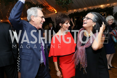Paul Friedman, Elizabeth Friedman, Olvia Demetriou. Photo by Tony Powell. 2017 Cafritz Welcome Back from Summer. September 8, 2017
