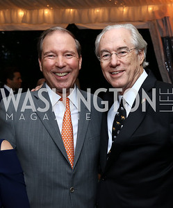 Sen. Tom Udall, George Vradenburg. Photo by Tony Powell. 2017 Cafritz Welcome Back from Summer. September 8, 2017