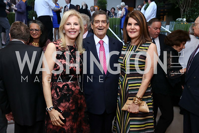 Jane Cafritz, Ken Duberstein, Jackie Duberstein. Photo by Tony Powell. 2017 Cafritz Welcome Back from Summer. September 8, 2017
