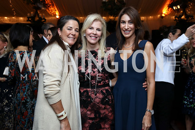 Deborah Winsor, Jane Cafritz, Jennifer Camel-Toueg. Photo by Tony Powell. 2017 Cafritz Welcome Back from Summer. September 8, 2017