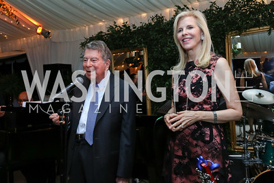 Calvin and Jane Cafritz. Photo by Tony Powell. 2017 Cafritz Welcome Back from Summer. September 8, 2017