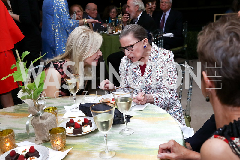Jane Cafritz, Justice Ruth Bader Ginsburg. Photo by Tony Powell. 2017 Cafritz Welcome Back from Summer. September 8, 2017