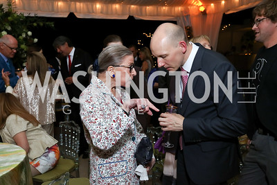 Ruth Bader Ginsburg, Robert Ainsley. Photo by Tony Powell. 2017 Cafritz Welcome Back from Summer. September 8, 2017