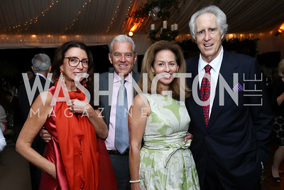 Aniko Gaal Schott, James and Nancy Rosebush, Nash Schott. Photo by Tony Powell. 2017 Cafritz Welcome Back from Summer. September 8, 2017