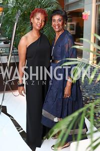 Ronda Ward, Estell Lloyd. Photo by Tony Powell. DC Chamber's Choice Awards and Gala. Marriott Marquis. October 20, 2017