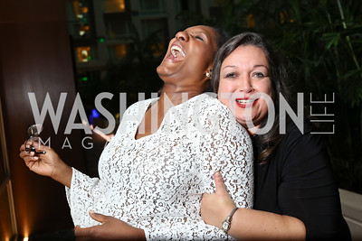 Salome and Cami Mazard. Photo by Tony Powell. DC Chamber's Choice Awards and Gala. Marriott Marquis. October 20, 2017