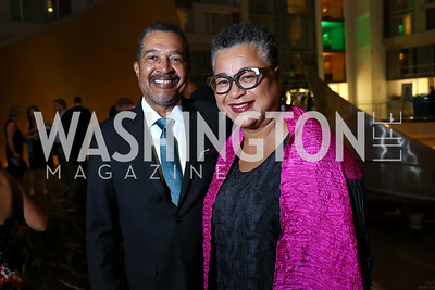 Wendell and Marie Johns. Photo by Tony Powell. DC Chamber's Choice Awards and Gala. Marriott Marquis. October 20, 2017