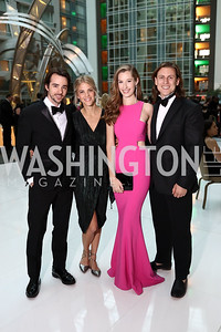 Harrison Suarez, Lauren Watkins, Kelsey Bensch, Michael Haft. Photo by Tony Powell. DC Chamber's Choice Awards and Gala. Marriott Marquis. October 20, 2017