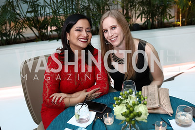 Cynthia Abugattas, Meredith Miller. Photo by Tony Powell. DC Chamber's Choice Awards and Gala. Marriott Marquis. October 20, 2017