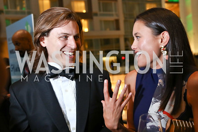 Michael Haft, Cecelia Spearing. Photo by Tony Powell. DC Chamber's Choice Awards and Gala. Marriott Marquis. October 20, 2017