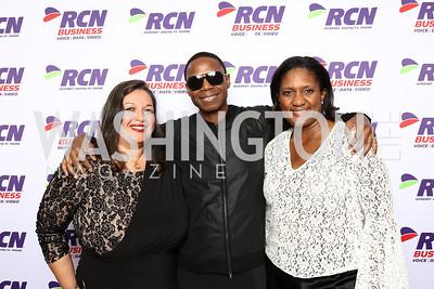 Camelia Mazard, Doug E. Fresh, Salome Mazard. Photo by Tony Powell. DC Chamber's Choice Awards and Gala. Marriott Marquis. October 20, 2017