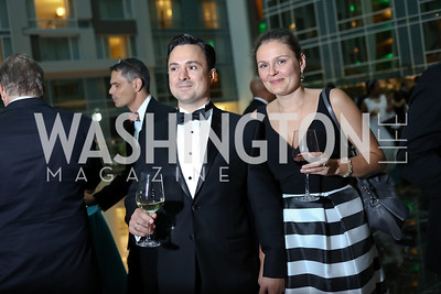 Alex and Darya Seleznyov. Photo by Tony Powell. DC Chamber's Choice Awards and Gala. Marriott Marquis. October 20, 2017