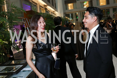Yj Cheung, Lucky Ames. Photo by Tony Powell. DC Chamber's Choice Awards and Gala. Marriott Marquis. October 20, 2017