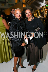 Lucia Riddle, Shireen Dodson. Photo by Tony Powell. DC Chamber's Choice Awards and Gala. Marriott Marquis. October 20, 2017