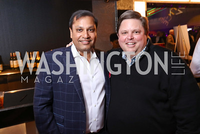 Cvent Founder & CEO Reggie Aggarwal, Privia Health CEO Jeff Butler. Photo by Tony Powell. 2017 Chance for Life. MGM National Harbor. April 1, 2017