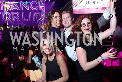 Heather Donnelly, Jacalyn Ollivant, Matt Donnelly, Kelsey Brown. Photo by Tony Powell. 2017 Chance for Life. MGM National Harbor. April 1, 2017