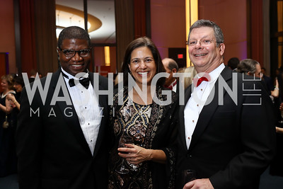 Bishop Eugene Sutton and Sonya Sutton, Scott Pritchett. Photo by Tony Powell. 2017 Choral Arts Gala. Kennedy Center. December 18, 2017
