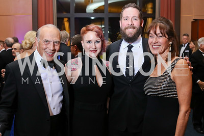 Rob Liberatore, Jen Gaffney and Derick Kraft, Debra Kraft Liberatore. Photo by Tony Powell. 2017 Choral Arts Gala. Kennedy Center. December 18, 2017