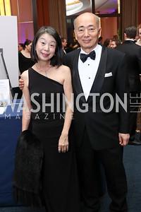 Nobuko Sasae and Japan Amb. Kenichiro Sasae. Photo by Tony Powell. 2017 Choral Arts Gala. Kennedy Center. December 18, 2017