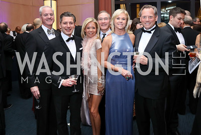 Peter O'Toole, Gerald Musarra, Eve O'Toole, Carlos Ortiz, Julie Chase, Devrin Weiss. Photo by Tony Powell. 2017 Choral Arts Gala. Kennedy Center. December 18, 2017