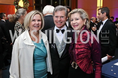 Connie Carter, Jeff and Christie Weiss. Photo by Tony Powell. 2017 Choral Arts Gala. Kennedy Center. December 18, 2017