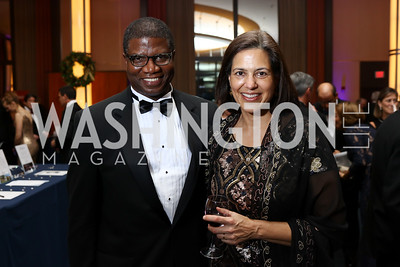 Bishop Eugene Sutton and Sonya Sutton. Photo by Tony Powell. 2017 Choral Arts Gala. Kennedy Center. December 18, 2017